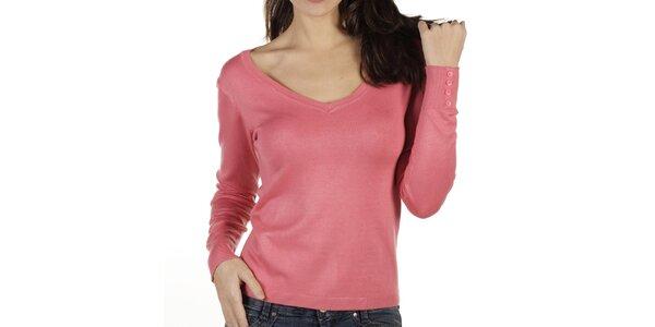 Dámský růžový svetr New Caro