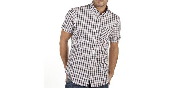 Pánská kostkovaná košile s krátkým rukávem New Caro