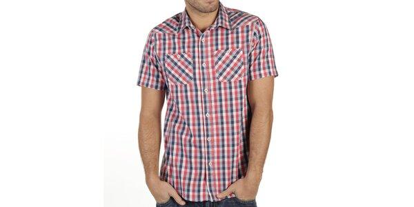 Pánská károvaná košile s krátkým rukávem New Caro