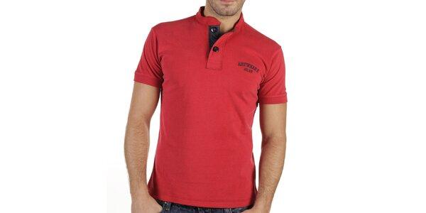 Pánské červené tričko s knoflíčky New Caro