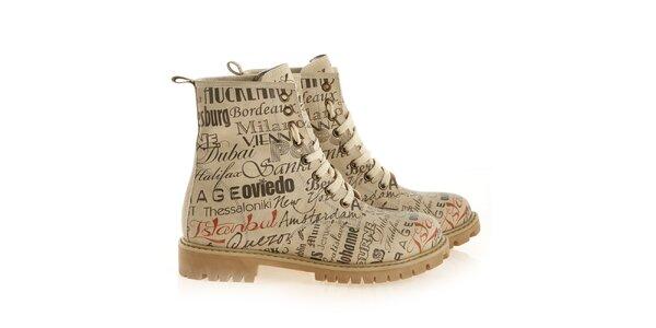 Dámské kotníkové šněrovací boty se jmény měst Elite Goby