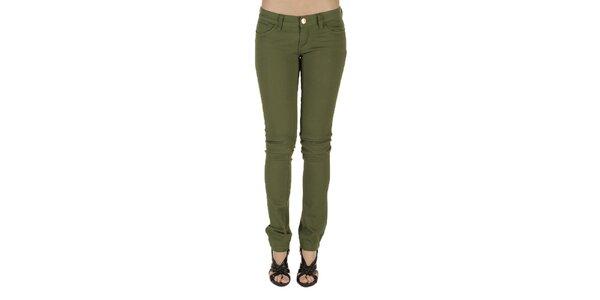 Dámské olivové kalhoty New Caro
