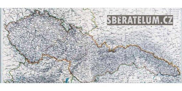 Limitovaná edice 16 map českých zemí