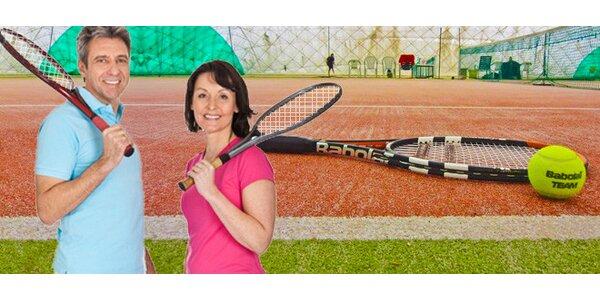 2hodinový pronájem tenisového kurtu