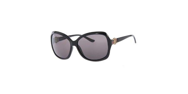 Dámské černé sluneční brýle s černými skly Guess