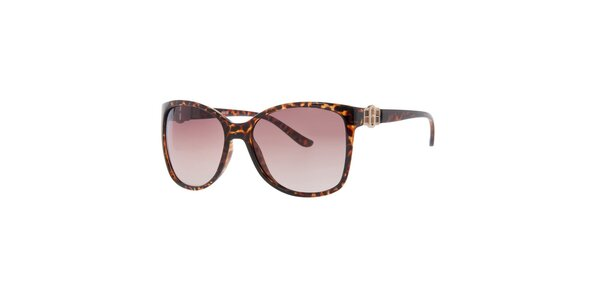 Dámské žíhané sluneční brýle s hnědými skly Guess