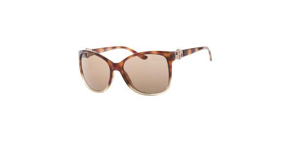 Dámské sluneční brýle s hnědými skly a žíháním Guess