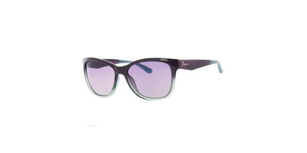 Dámské fialovo-zelené sluneční brýle Guess