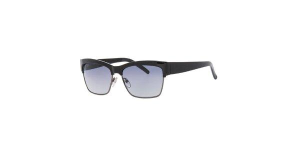 Dámské černé retro sluneční brýle Guess