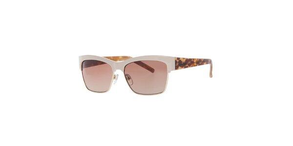 Dámské krémové retro sluneční brýle Guess
