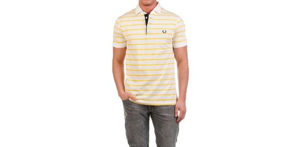 Pánské polo triko se žlutými proužky Fred Perry