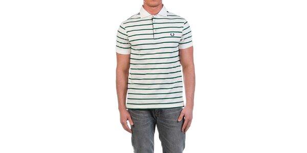 Pánské polo triko se zelenými proužky Fred Perry