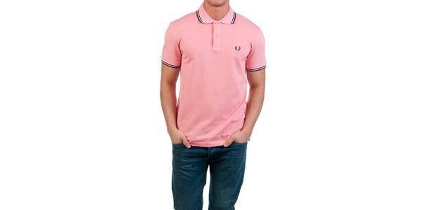 Pánské růžové polo tričko Fred Perry