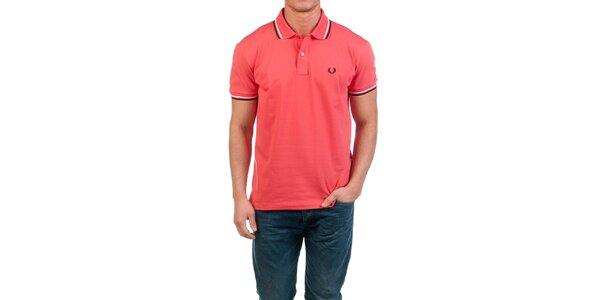 Pánské korálově červené polo tričko Fred Perry