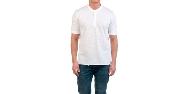 Pánské bílé tričko s knoflíčky Fred Perry