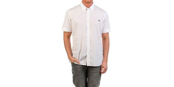 Pánská bílá košile s krátkým rukávem a Fred Perry