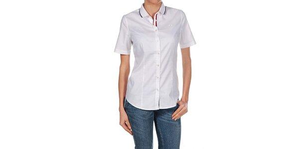 Dámská bílá košile s krátkým rukávem Fred Perry