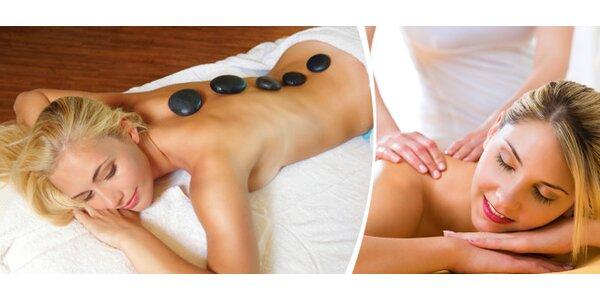 Celková masáž lávovými kameny - 90 minut