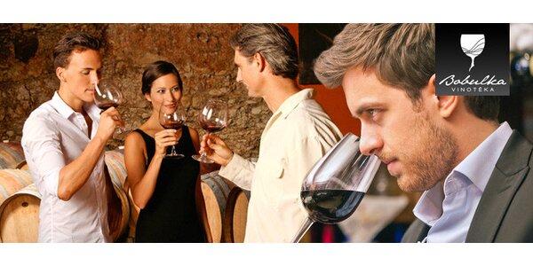 Ochutnávka 6-7 vín s výkladem a občerstvením