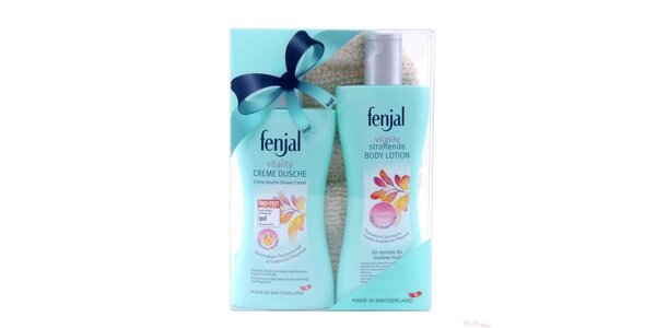 Fenjal Vitality set (sprch.gel 200ml+tělové mléko 200ml+rukavice)