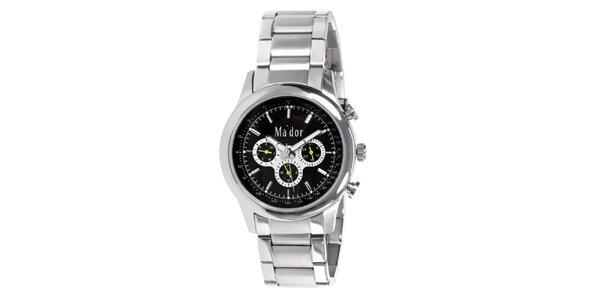 Pánské sportovní hodinky s černým ciferníkem Ma´dor