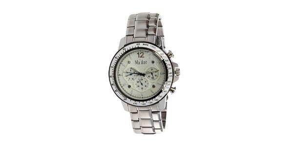 Pánské hodinky s analogovým světlým ciferníkem Ma´dor
