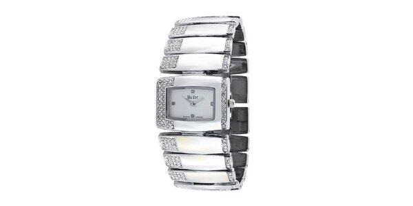 Dámské stříbrné náramkové hodinky Ma´dor