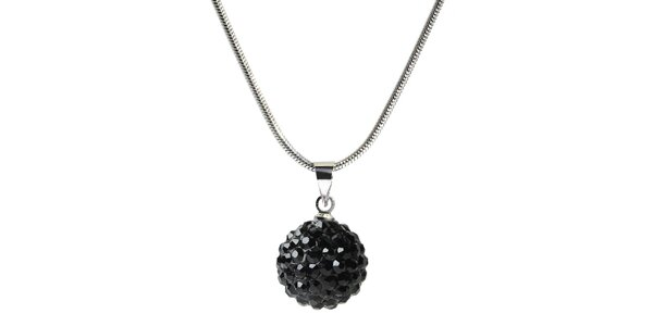 Dámský náhrdelník s kulatým černým přívěskem Ma´dor