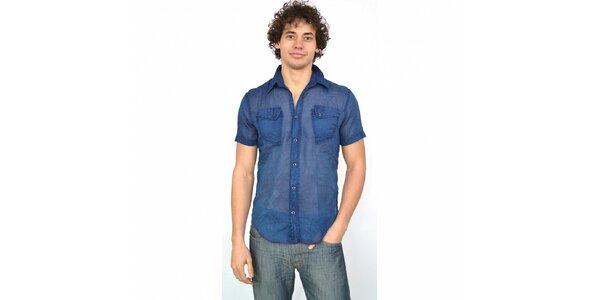 Pánská indigově modrá košile Energie