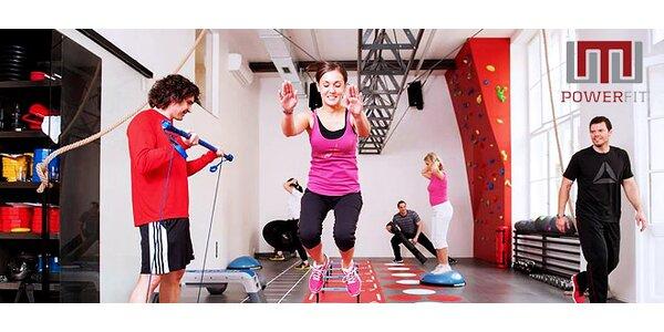 Měsíční členství a funkční trénink v PowerFit fitness