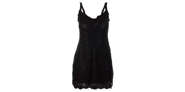 Dámské černé krajkové šaty Velvet Kitten