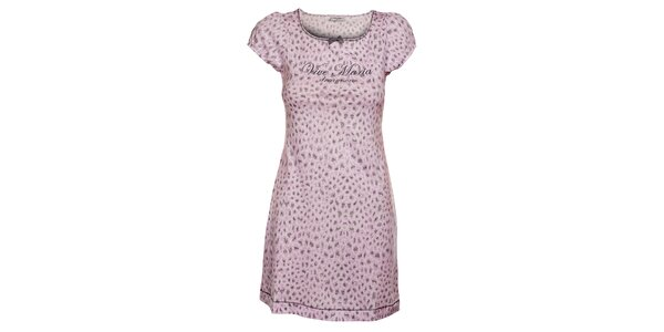 Dámské růžové šaty Vive Maria s leopardím potiskem