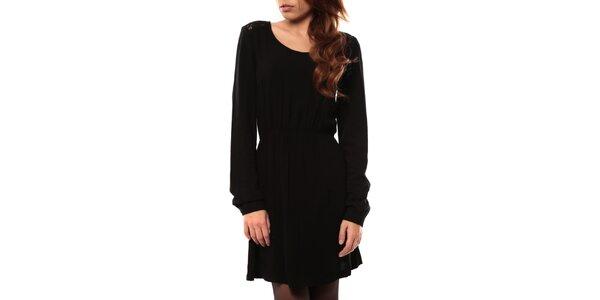 Dámské černé šaty s krajkovou vsadkou My Little Poesy