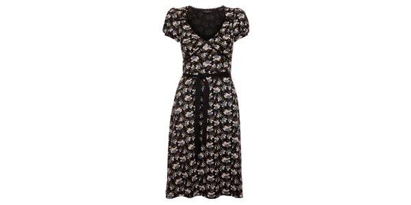 Dámské černé květované šaty Vive Maria