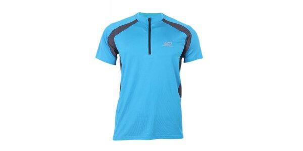 Pánské modro-černé sportovní tričko se zipem Hannah