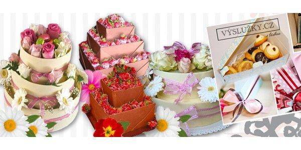 Luxusní svatební dorty vyráběné s láskou (5,5 až 8 kg)