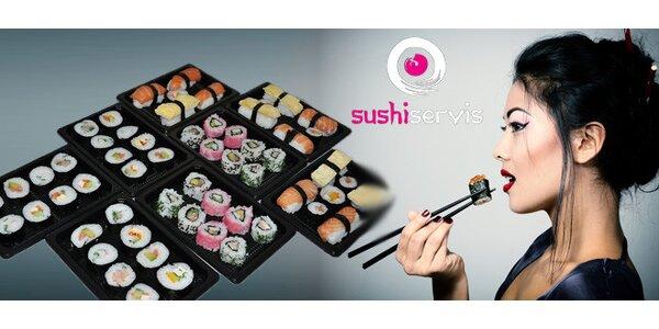 Jarní GIGA MENU - fresh EXTRA vychucený mix 50 kousků Sushi ve Znojmě