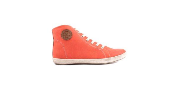 Dámské oranžové kotníkové tenisky Les tropeziennes