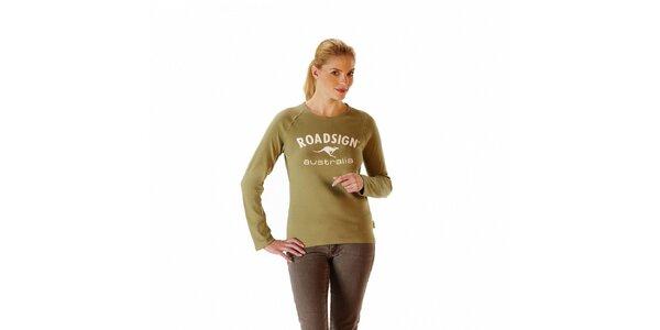 Dámské khaki tričko Roadsign Australia