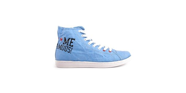 Dámské modré kotníkové tenisky Fuck Me I Am Famous by David Guetta
