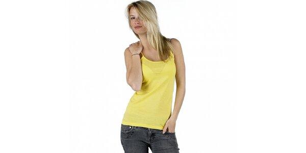 Dámské kanárkově žluté tílko Pinko