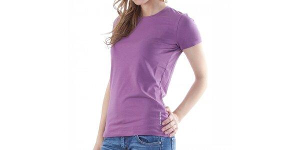 Dámské fialové tričko Calvin Klein