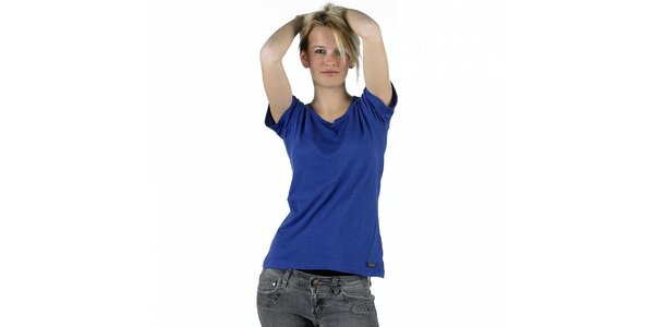 Dámské zářivě modré tričko Pinko