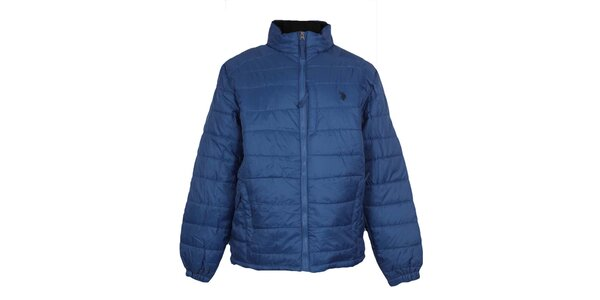 Pánská prošívaná modrá bunda U.S. Polo