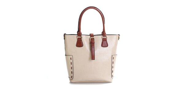 Dámská béžová kabelka z pravé kůže Belle & Bloom