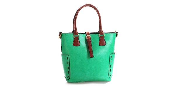 Dámská zelená kabelka z pravé kůže Belle & Bloom
