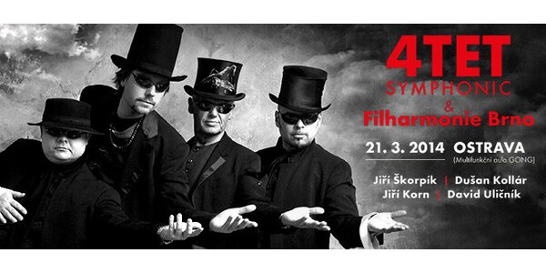Koncert 4TET - Symphonic s FILHARMONIÍ Brno