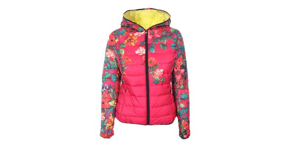 Dámská růžová květovaná bunda Monte Vero