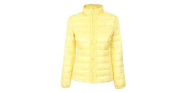 Dámská žlutá prošívaná bunda DJ85°C