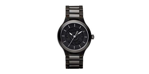 Dámské kovové hodinky DKNY v černé barvě